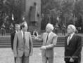 Eduard Sevardnadze a Lenin-szobornál