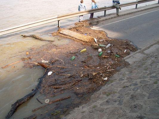 Hulladékok a Duna parton