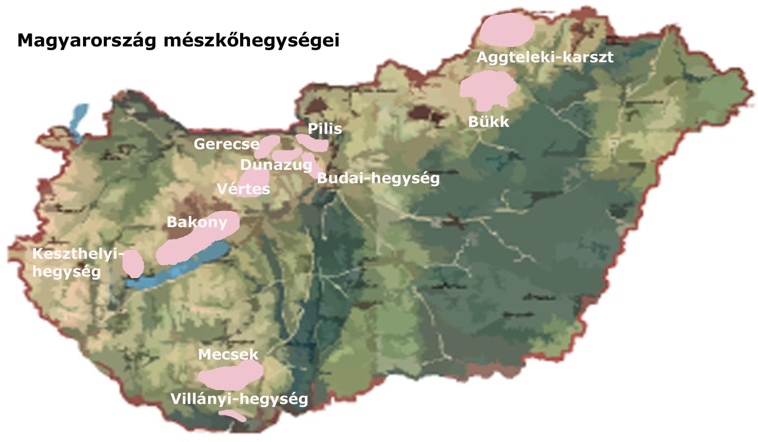 vértes hegység térkép Ember a természetben   5. osztály | SuliTudásbázis vértes hegység térkép