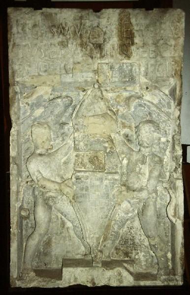 A pécsi püspökvár - Ernuszt Zsigmond pécsi püspök címerköve 1498-as évszámmal