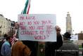 Nagygyűlés az iraki magyar katonai jelenlét ellen