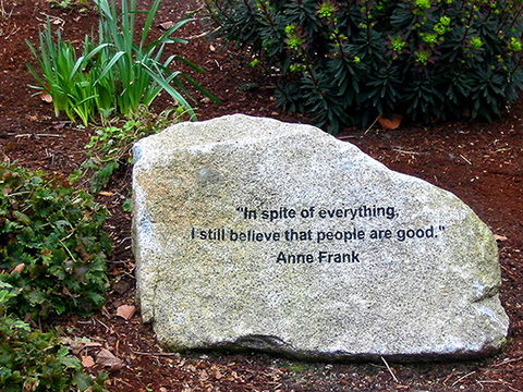 Anne-Frank-Quote-Stone-Carving-at-Seattle-Center-horizontal