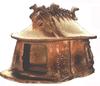 Ház alakú edény a halotti hamvaknak, a korai Rómában