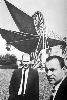 Wilson és Penzias, a háttérsugárzás felfedezői
