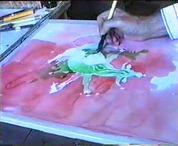 Az akvarellkép fejlesztése