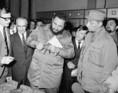 Fidel Castro a Győri Magyar Vagon- és Gépgyárban