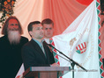 Orbán Viktor millenniumi zászlót adott át Nyíradonyban