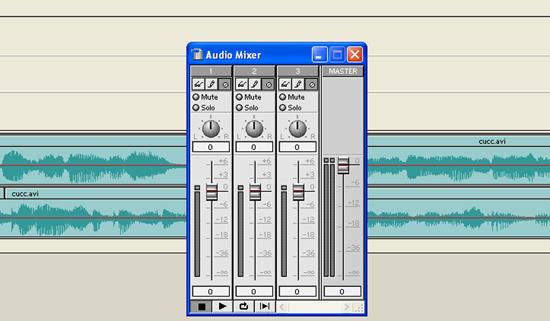 Audio mixer ablak