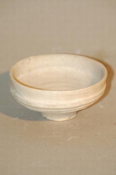 Fehér bordázott csésze