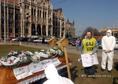 Tüntetés az azbesztmentesítésért