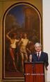 A Szépművészeti Múzeum centenáriumi kiállításán Sólyom László köztársasági elnök beszél