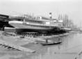 Festik a hajókat az újpesti kikötőben