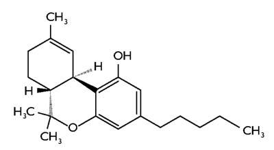 A terahidro-kannabinol egyik izomerje