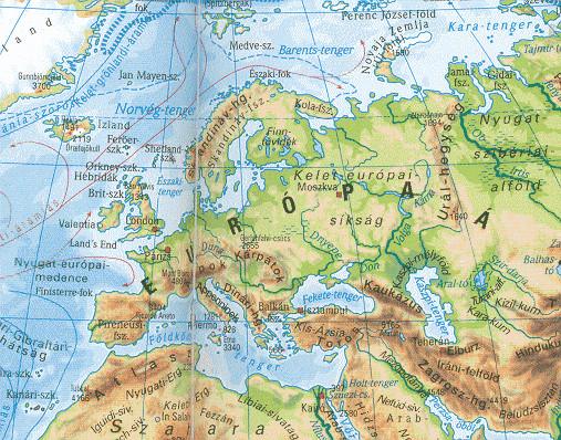 Európa részei