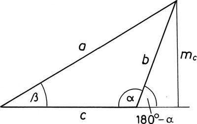 Tompasszögű háromszög jelölései