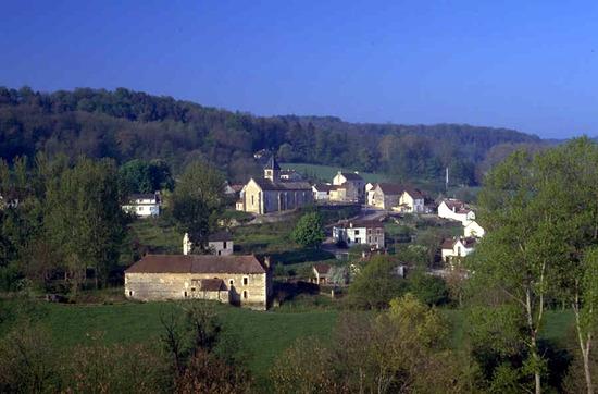 Egy falu látképe