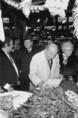 G. Shultz, az USA külügyminisztere Magyarországon