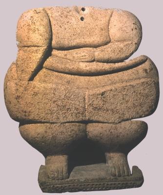 Mészkő istenség szobor az őskori Máltáról