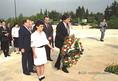 Antall József Izraelben a Herzl emlékműnél