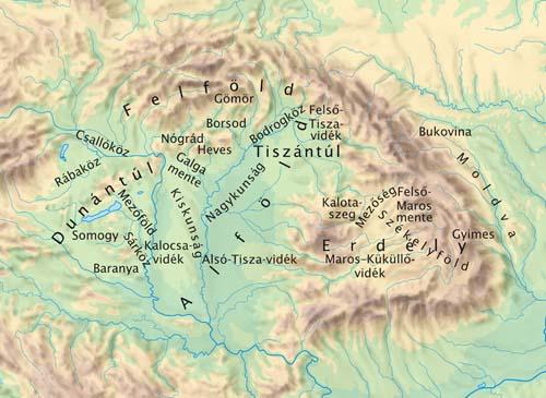 A magyar néptánc típusok néprajzi tájegységei