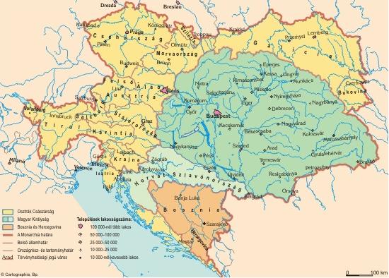 Az Osztrák-Magyar Monarchia 1910 körül