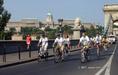 Kerékpárosok tüntetése Budapesten