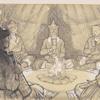 Attila vezérei társaságában