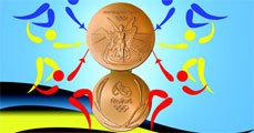 PET-palackon lógnak az olimpiai érmek