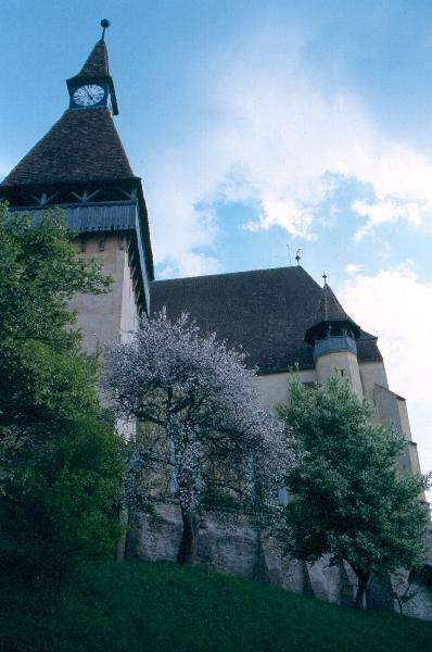A berethalmi templomvár látképe dél felöl