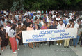 Romák demonstrációja Egerben
