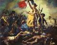 Eugéne Delacroix: A szabadság géniusza vezeti a népet