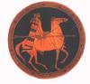 Görög lovas katona (Vörös alakos váza, Kr.e. 500)
