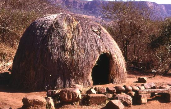 Hagyományos zulu ház – Dél-Afrikában