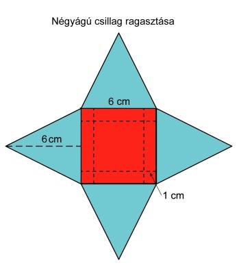 Négyágú csillag képe