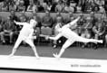 Fenyvesi Csaba (j) és a francia La Degaillerie asszója a XX. nyári olimpián Münchenben