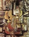 Pablo Picasso: Hegedű és szőlő