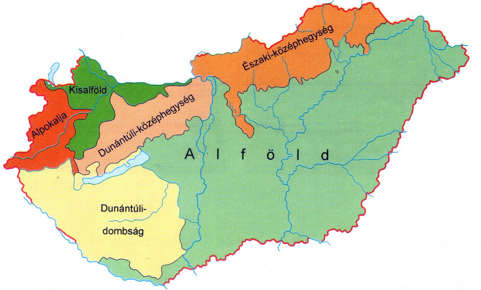 magyarország nagytájai térkép Ember a természetben   6. osztály | SuliTudásbázis magyarország nagytájai térkép