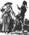 Pandúr tánca a szeretőjével
