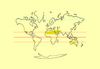Trópusi sivatagok elhelyezkedése a Földön