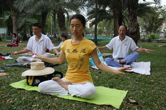 Meditációs gyakorlat az utcán