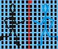 Pálcikaember tükrözése négyzetrácson