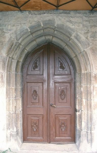 A dési Szt. István plébániatemplom déli, gótikus kapuja