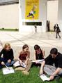 Diákcsúcs 2003 rendezvényen részt vevő diákok a Millenáris Parkban