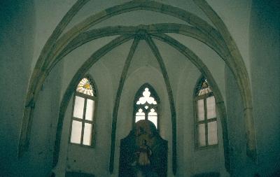 A pozsonyi Szent Katalin kápolna - szentély belső
