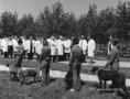 L. Svoboda látogatása az Agárdi Állami Gazdaság kutyatenyészetében