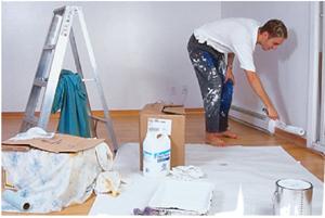 A szobafestők munkája nagyrészt statikus izommunka