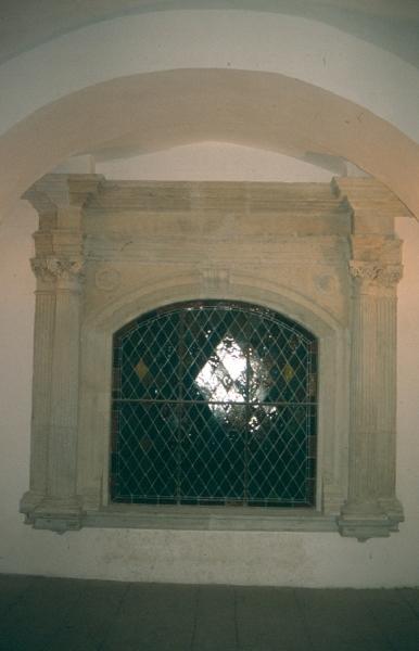 A sárospataki vár - reneszánsz ablakkeret