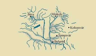 A Kárpát-medence vízrajzi térképe a 18. században