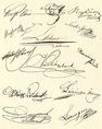 Az aradi vértanúk aláírásai