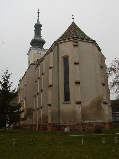 A decsi plébániatemplom keleti látképe